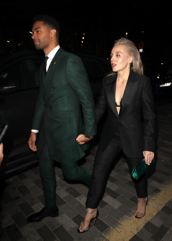 Bridgerton star Regé-Jean Page and girlfriend Emily Brown pictured together at the GQ Men of the Year Awards in London