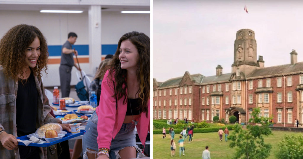 Match the Netflix teen drama school to the show it appears in quiz