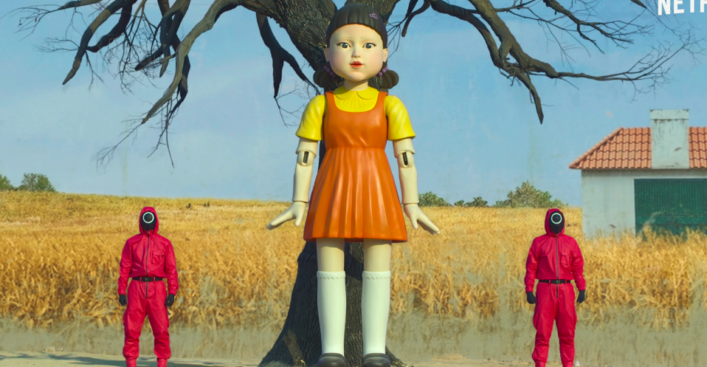 Red Light Green Light doll