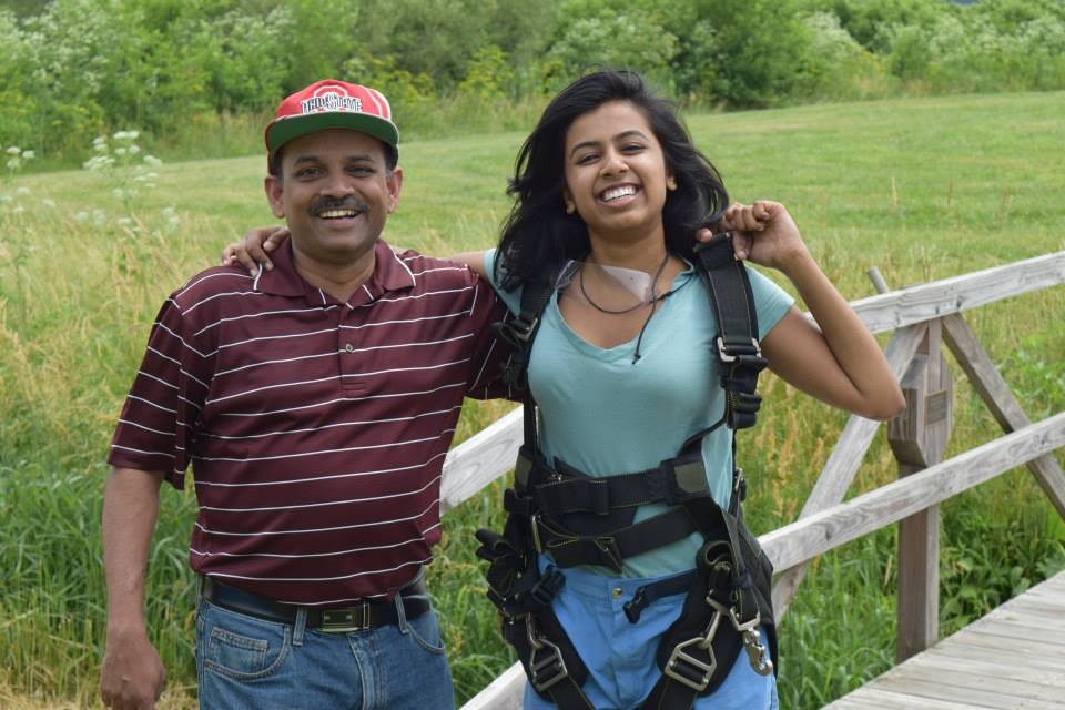 My dad and I after he watched me sky dive