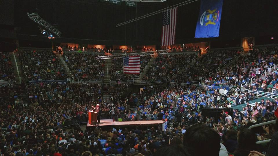 Bernie Sanders rally at Michigan State University in East Lansing, MI (Photo: Laina Stebbins)