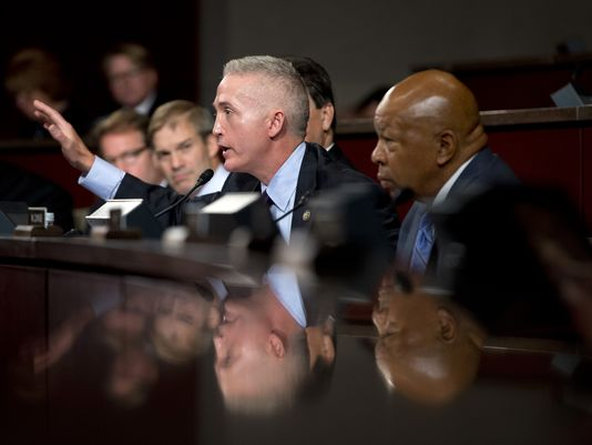 Chairmen Trey Gowdy and Elijah Cummings of the Benghazi Committee