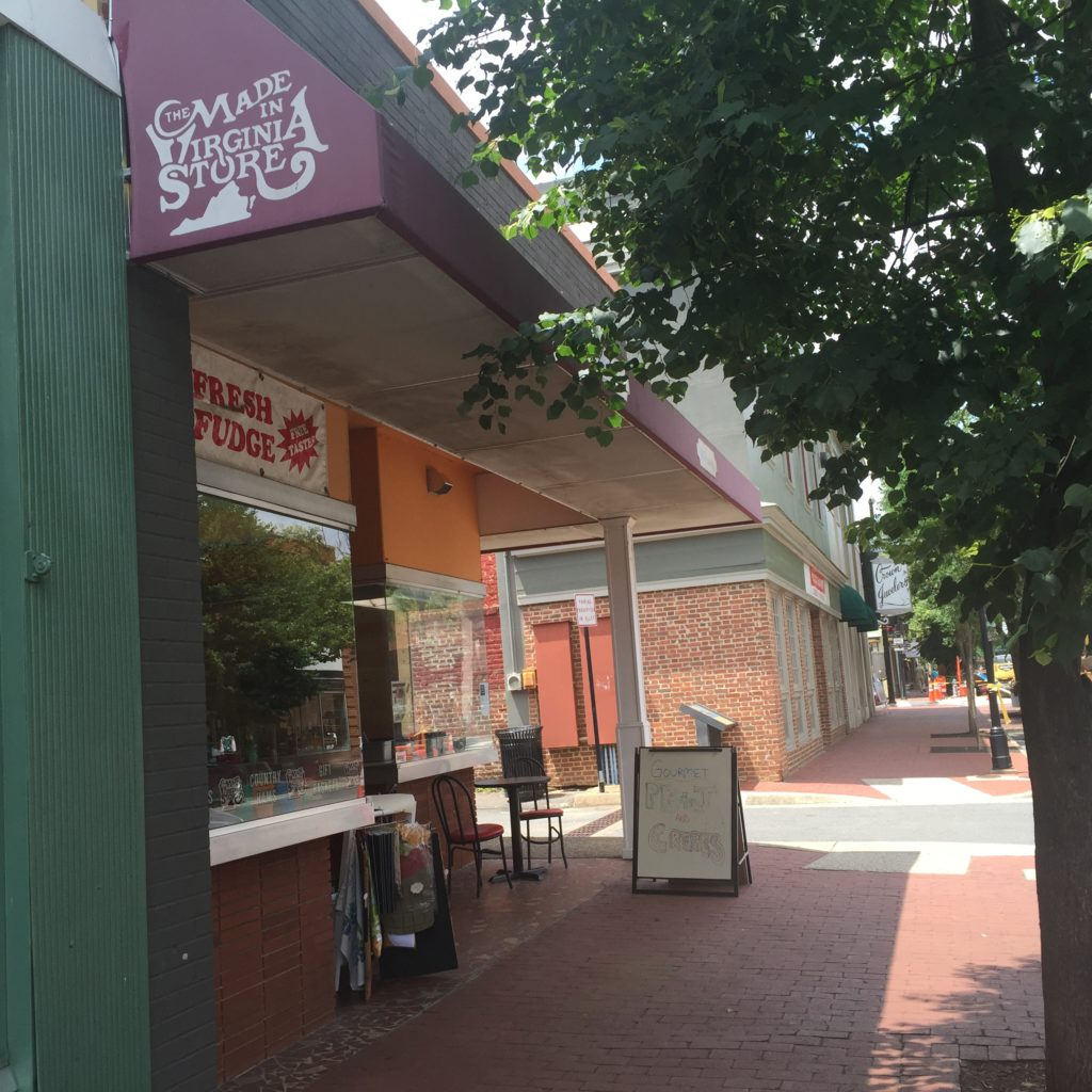 Sprelly's sandwich counter is tucked into the Made in Virginia store on Caroline Street in Fredericksburg, Virginia.