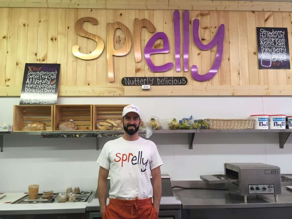 Sprelly founder Adrian Silversmith at his recently opened sandwich counter.