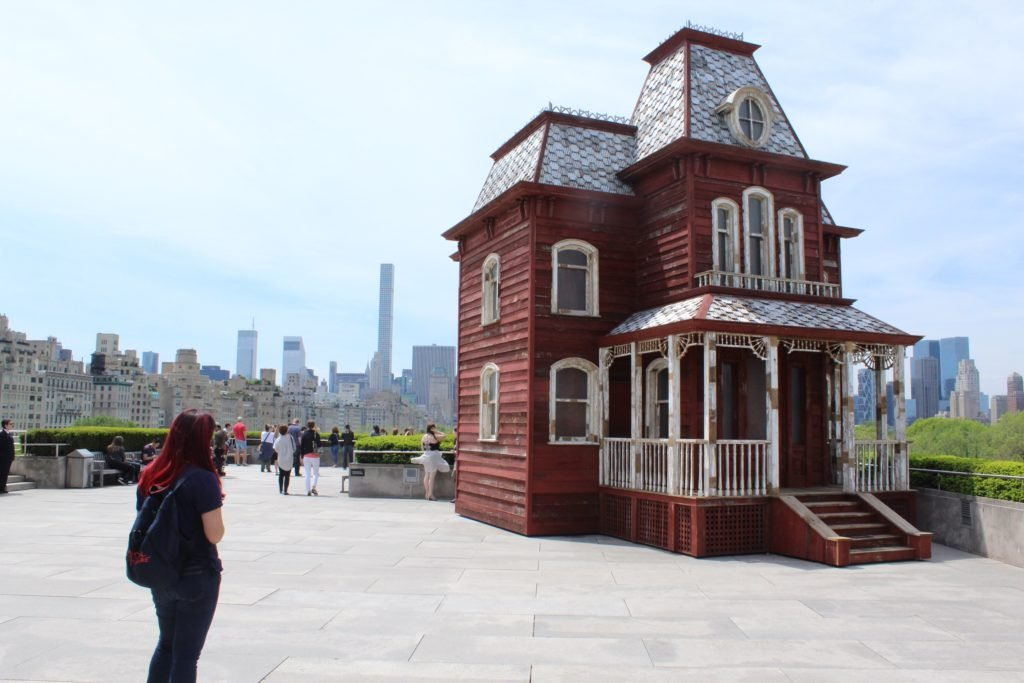 The house from Psycho on the Met rooftop