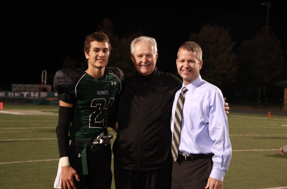 Three generations of football players my grandpap, my dad, and my brother.