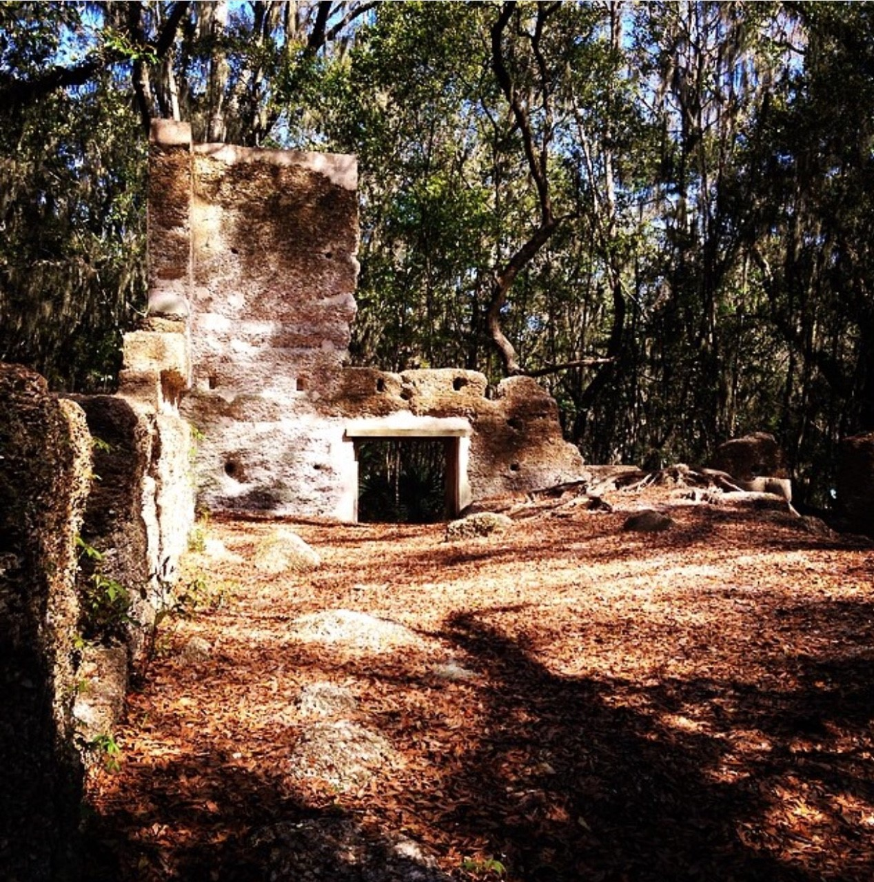 The ruins of a plantation house at the Baynard Ruins in Hilton Head, SC.