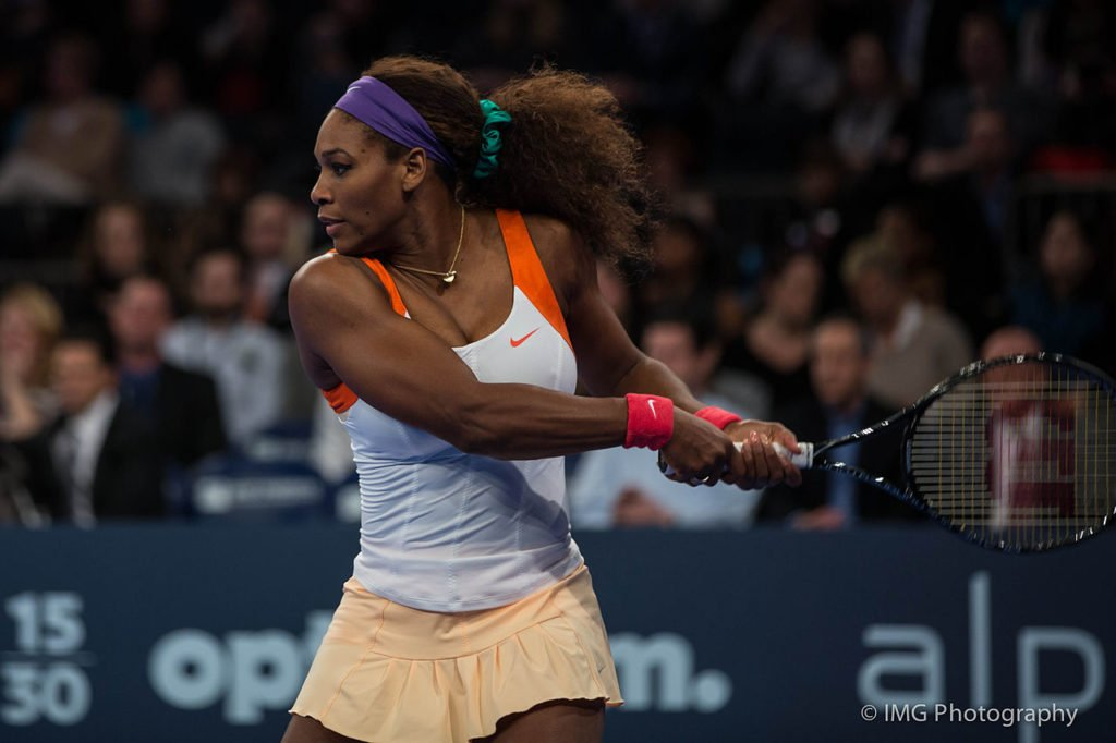 Serena Williams in her natural habitat of being a BADASS; photo by IMG Photography