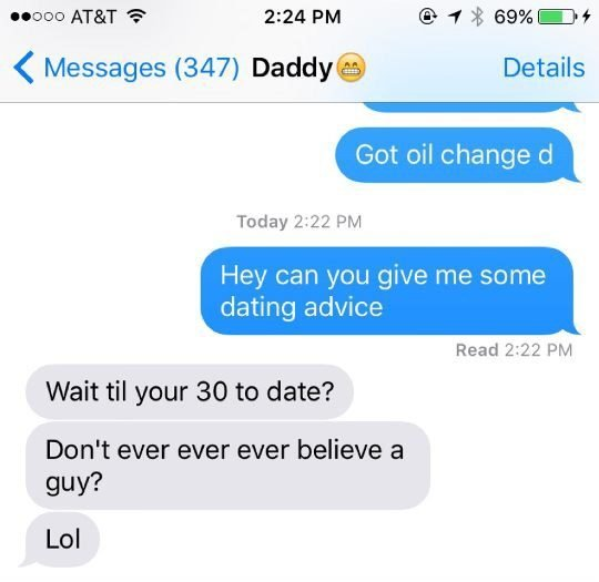 daughters dating advice