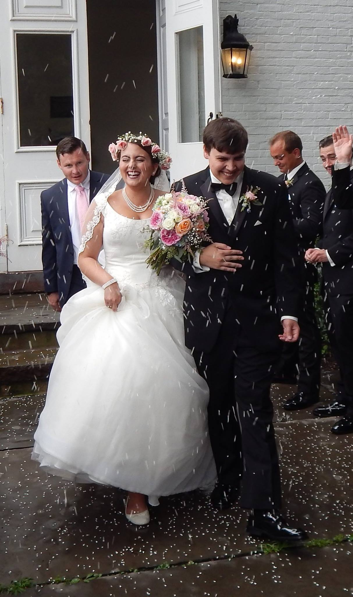 Us leaving the church on our wedding day!