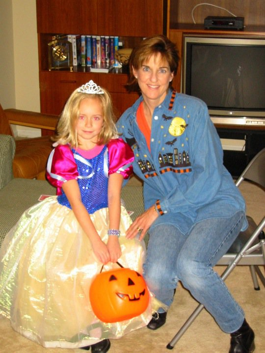 My mom and I during Halloween