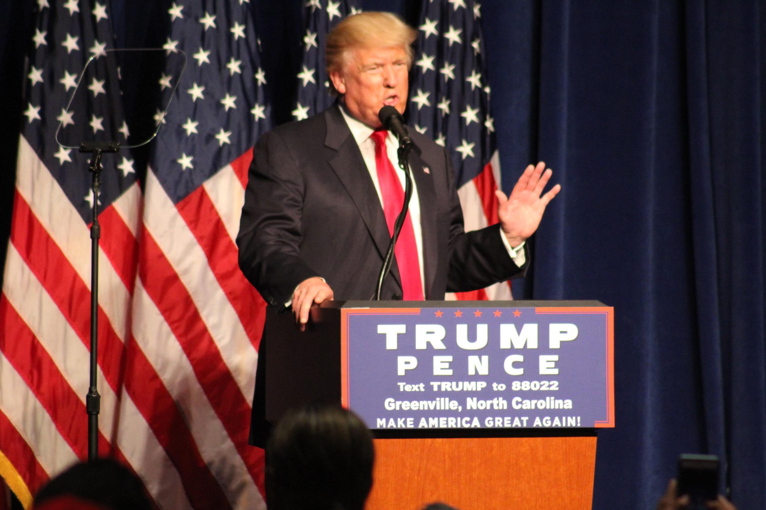 Trump in North Carolina yesterday