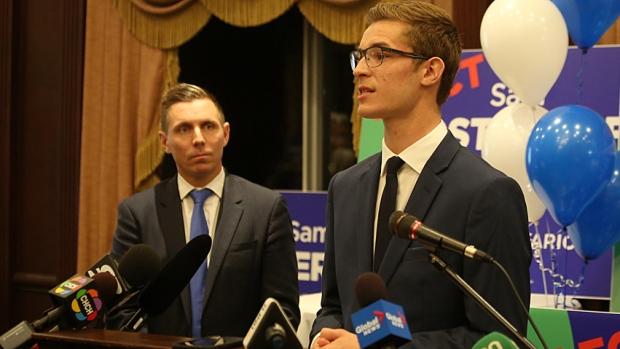 Many speculate that Oosterhoff will be a headache for more progressive leader, Patrick Brown (L)