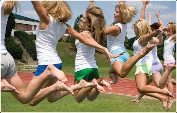 Teen girls in soffe short-3031