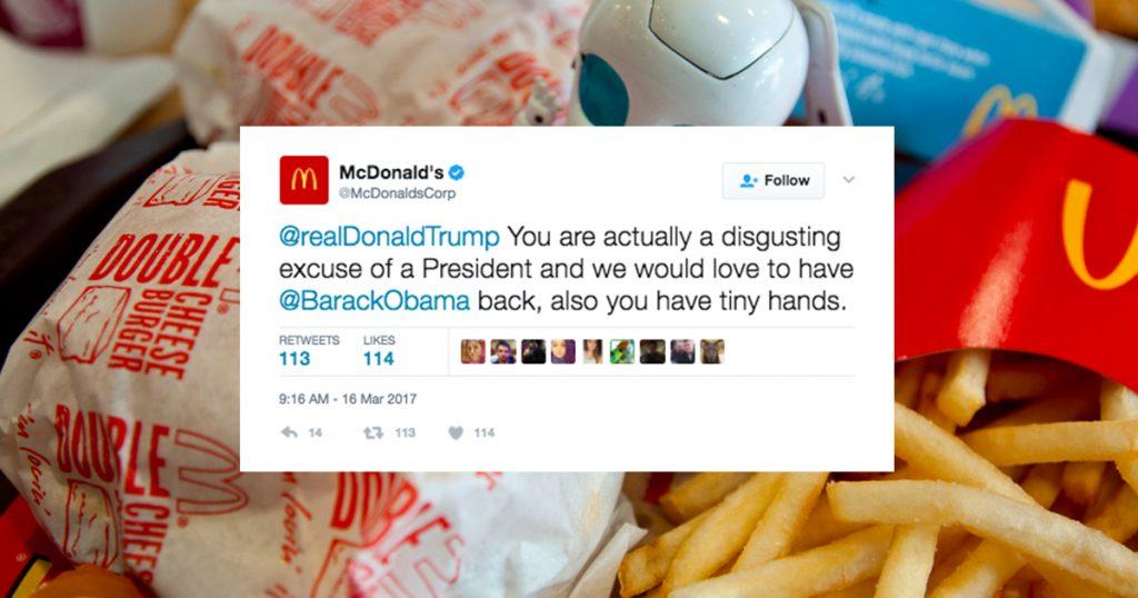 mcdonalds twitter, mcdonalds twitter hacked,