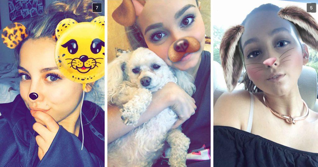 snapchat emojis, snapchat girl, basic snapchat girl, dog filter, rabbit filter