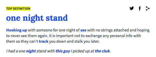 This is not a one night stand