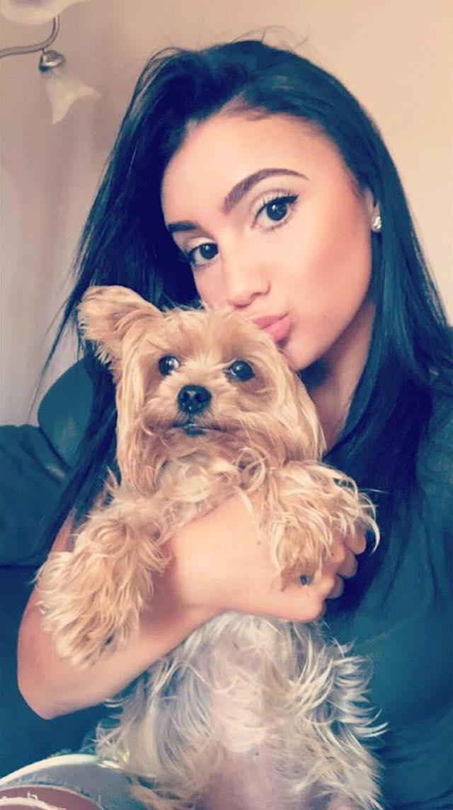 Alina Sheykhet with her dog