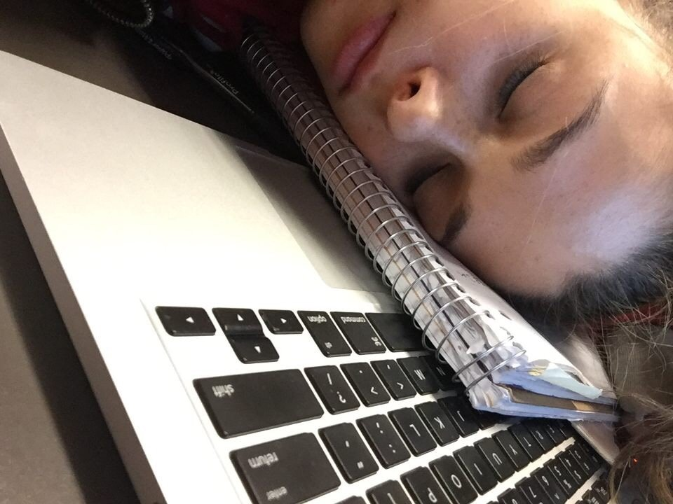 Your notebook makes the perfect pillow