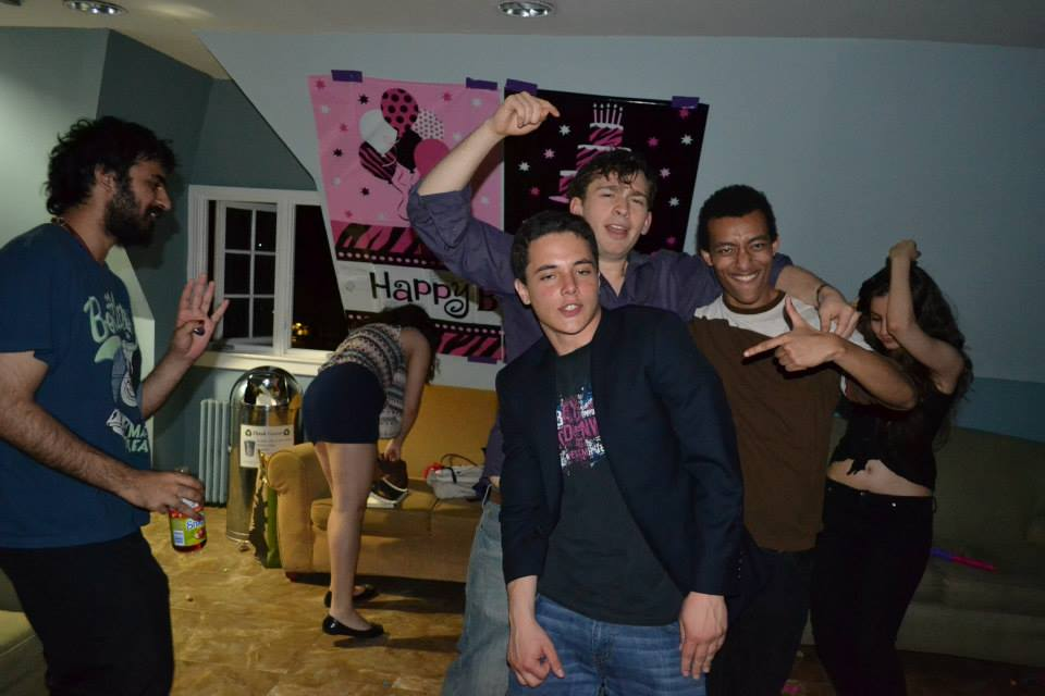 College dorm room sex party