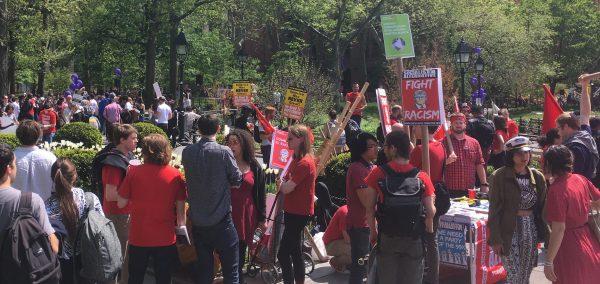 Students walk out of classes demanding President Hamilton
