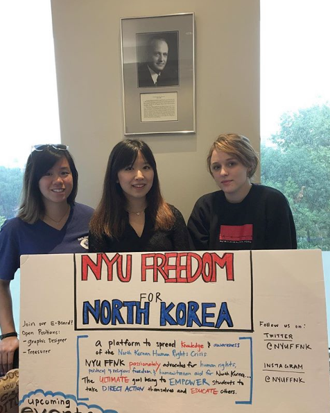 Tiffany Ip, Grace Moon, and Audrey Gregg tabling at club fest 2017.