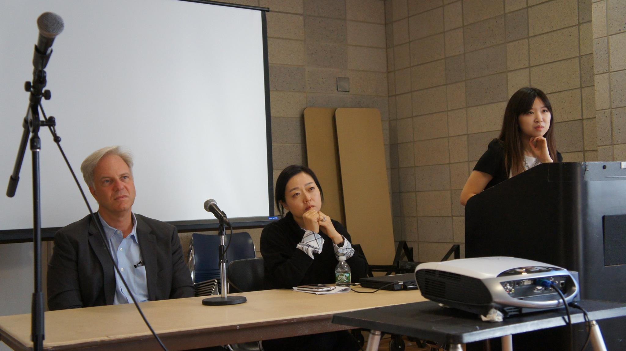 Panelists Robert Moynton and Euna Lee at the Freedom for North Korea Intercollegiate Conference.