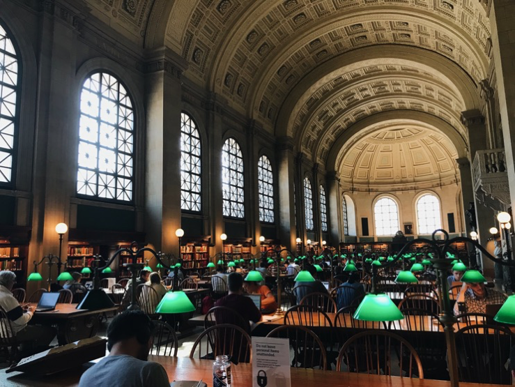Bates Hall Reading room – if you squint and maybe duck, it even looks like The Hay