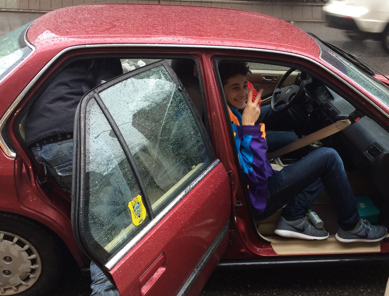 Jonah in Westside Car