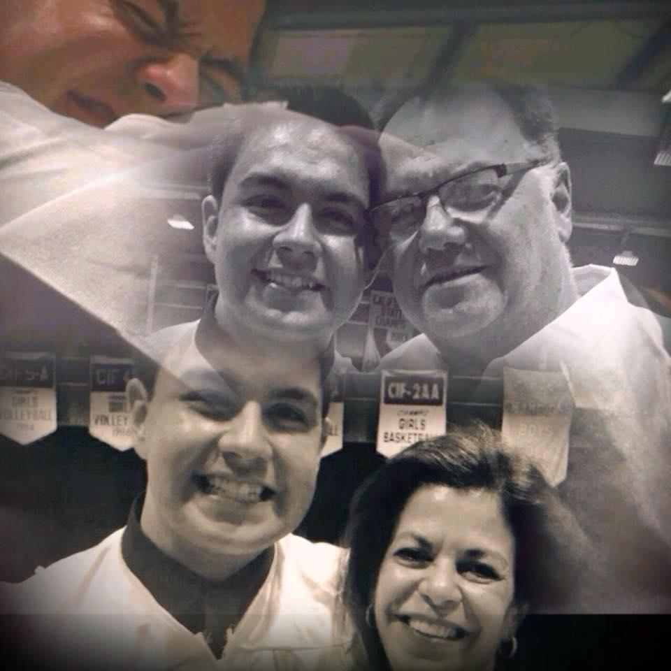 Sam with his parents: Gabriela and Samuel Castro