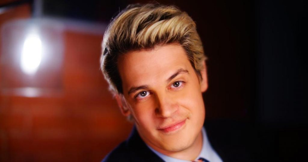 Headshot of Milo Yiannopoulos, the controversial British pundit