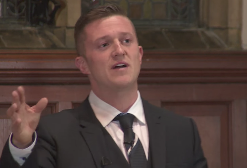 Robinson speaking at the Oxford Union in 2015
