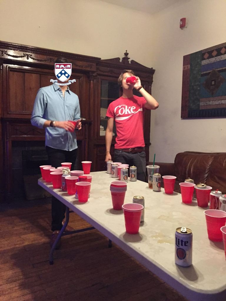 Of Colorado S Jake Traut Left And Brian Thompson Play Beer Pong In
