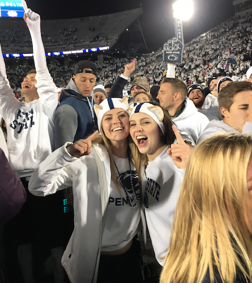 Penn State fans celebrate before Riots