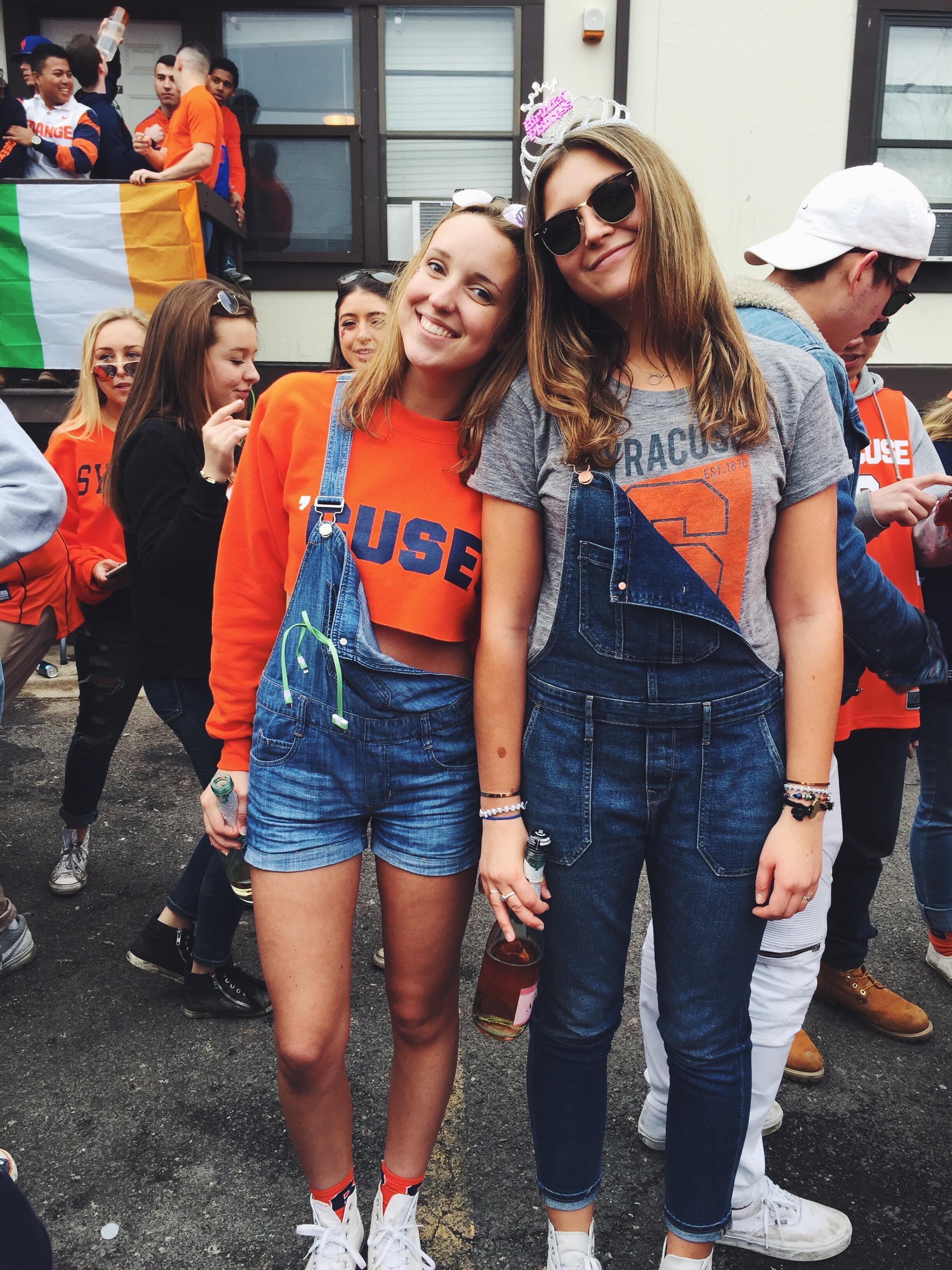Freshmen Caroline Wenger and Courtney Anderson