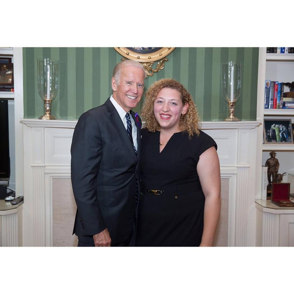 Syracuse University alum, Vice President Joe Biden and Sam