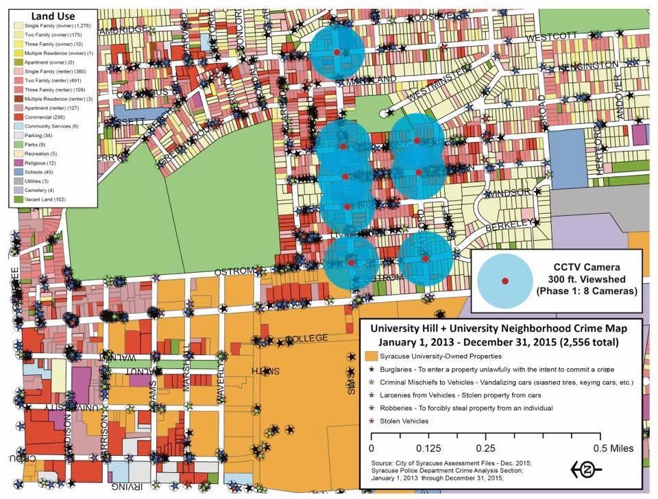 Suny Esf Campus Map.Su Grad Raises 94k To Install Security Cameras For Off Campus Housing