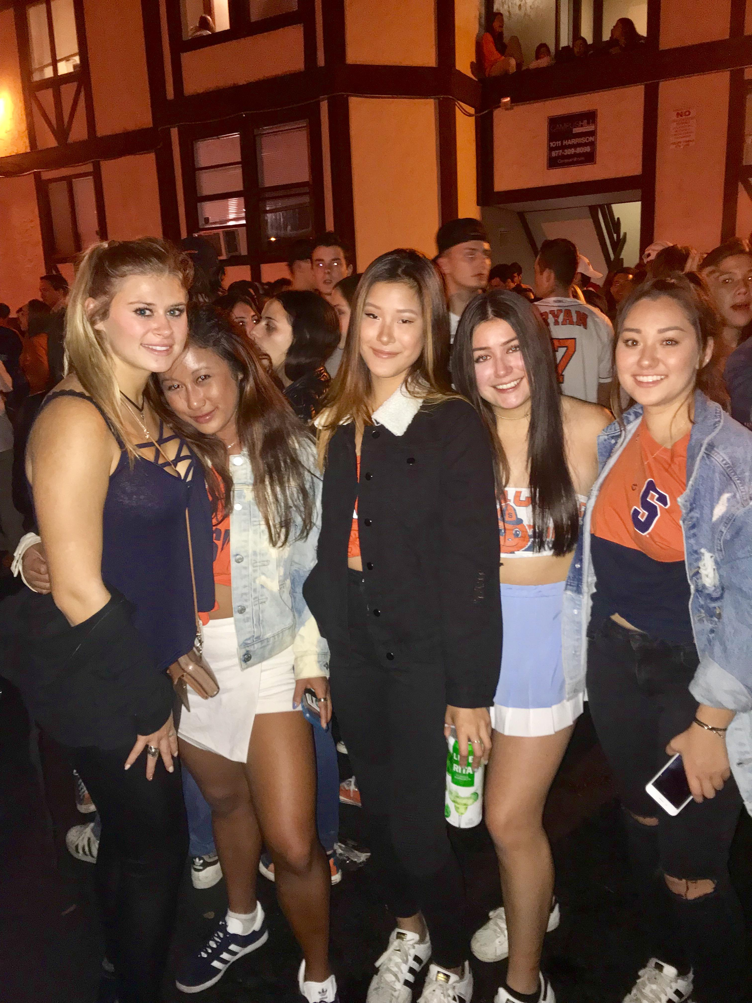 Pictured: Markell Reid, Monica Meas, Selina Sristienvong, Jisselle Garcia and Natalie Johnson