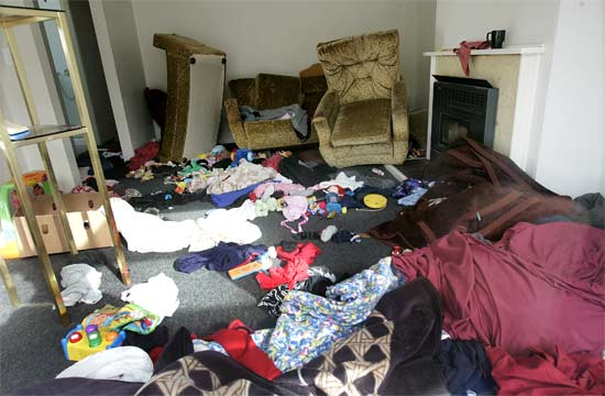 If you've never been burgled, it looks a bit like this
