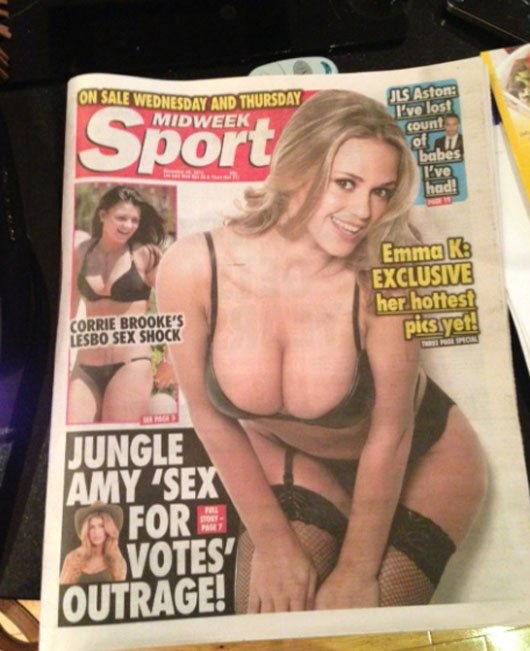 Emma featured on the cover of today's Midweek Sport