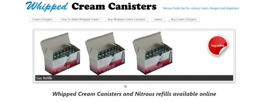 Most people buy online from websites claiming to sell the canisters for whipped cream