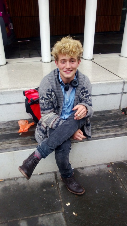 English Literature student, Geir Darge, Edinburgh