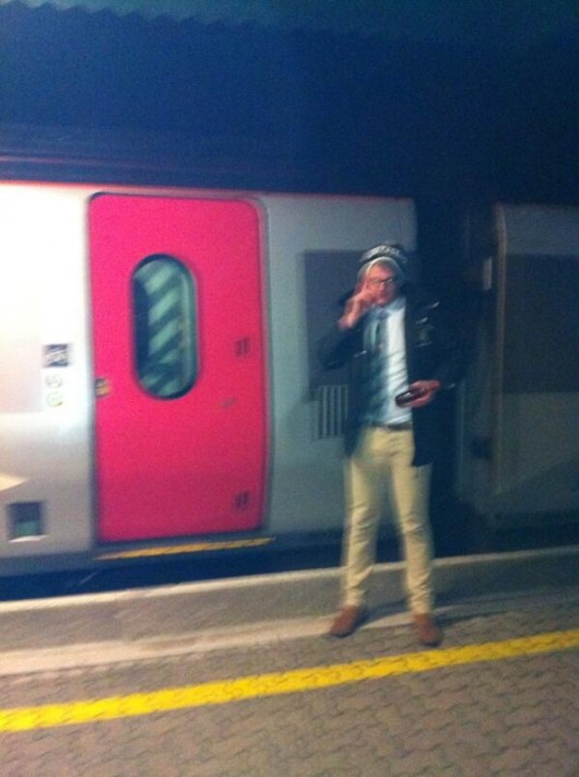 Jack explains why he won't be back in time for the social as his train departs