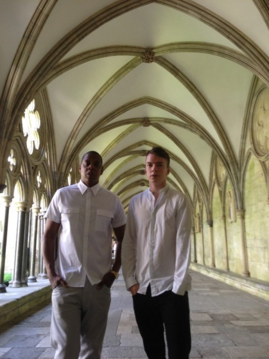 Tab bigwig Tom Goulding shows Jay Z around a church