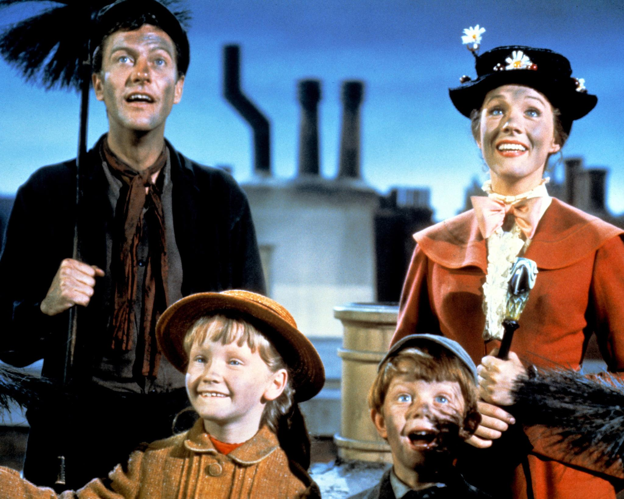 dick-van-dyke,-karen-dotrice-and-matthew-garber-at-event-of-mary-poppins-(1964)-large-picture