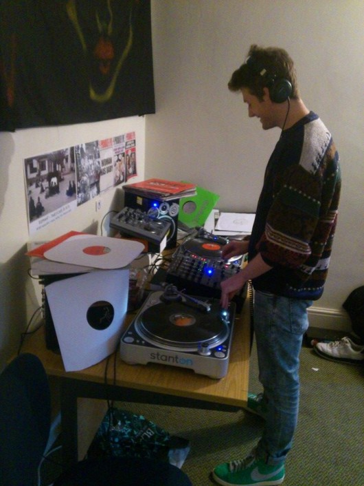 This guy DJs in his own bedroom, so you could listen to his tunes and have sex with him at the same time