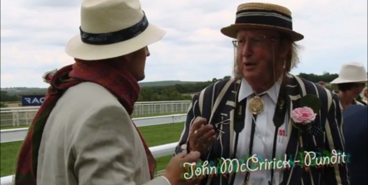 Horsing around: Orlando meeting John McCririck