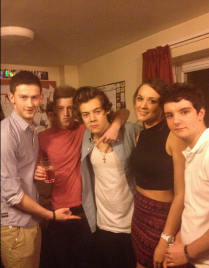 Harry Styles showed up at a student house in Leeds