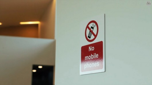 Ill manners: Toff Orlando flouts a mobile phone ban