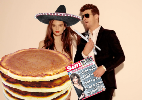 Pick up a copy of The Sun while wearing your sombrero and listening to Tim Westwood playing Blurred Lines